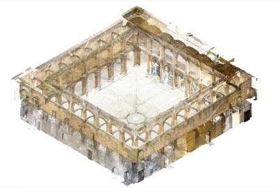 Levantamiento tridimensional claustro