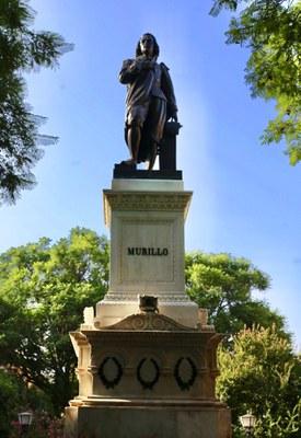 Estatua de Murillo tras la restauración