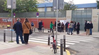 Estado del acceso al colegio Pedro Garfias tras las obras de acondicionamiento realizadas
