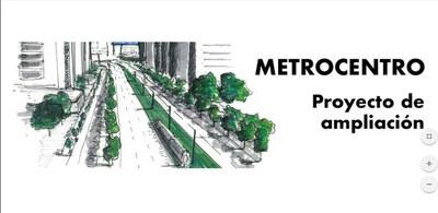 Recreación del proyecto de ampliación del metrocentro hasta la estación de Santa Justa