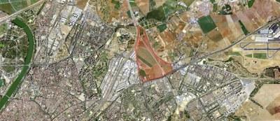 Imagen aérea del sector de suelos de Buenaire que ya cuenta con el documento definitivo de planeamiento para su desarrollo urbanístico