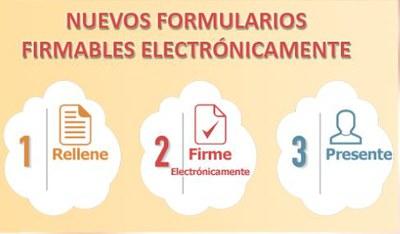 Con los nuevos formularios ya no es necesario imprimir ni escanear el documento antes de su presentación digital