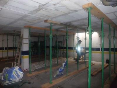 Urbanismo ha apuntalado el sótano del edificio para ofrecer plenas garantías de seguridad en el edificio